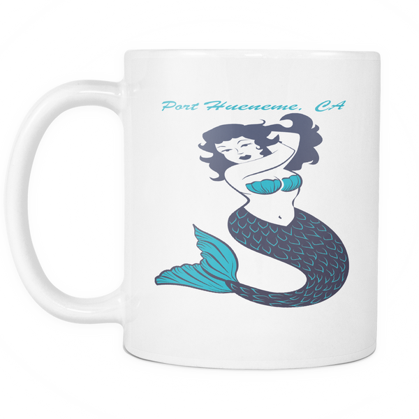 Mermaid Printed Ceramic Coffee Mug White or Pink-PoHuLocal
