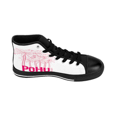 PoHuLocal-Women's High-top Sneakers Pink