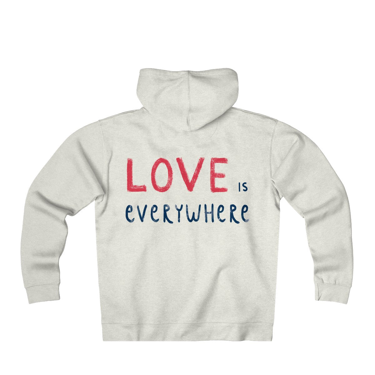 PoHuLocal-Love is Everywhere Unisex Heavyweight Fleece Zip Hoodie