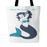 Mermaid Best Beach Tote Bag Hot Pink or White-PoHuLocal