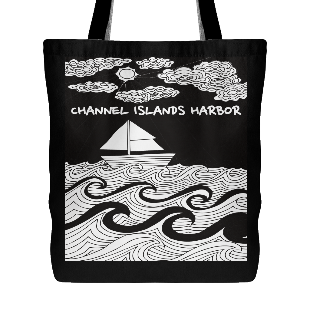 Channel Islands harbor Best Beach Bag Tote-PoHuLocal