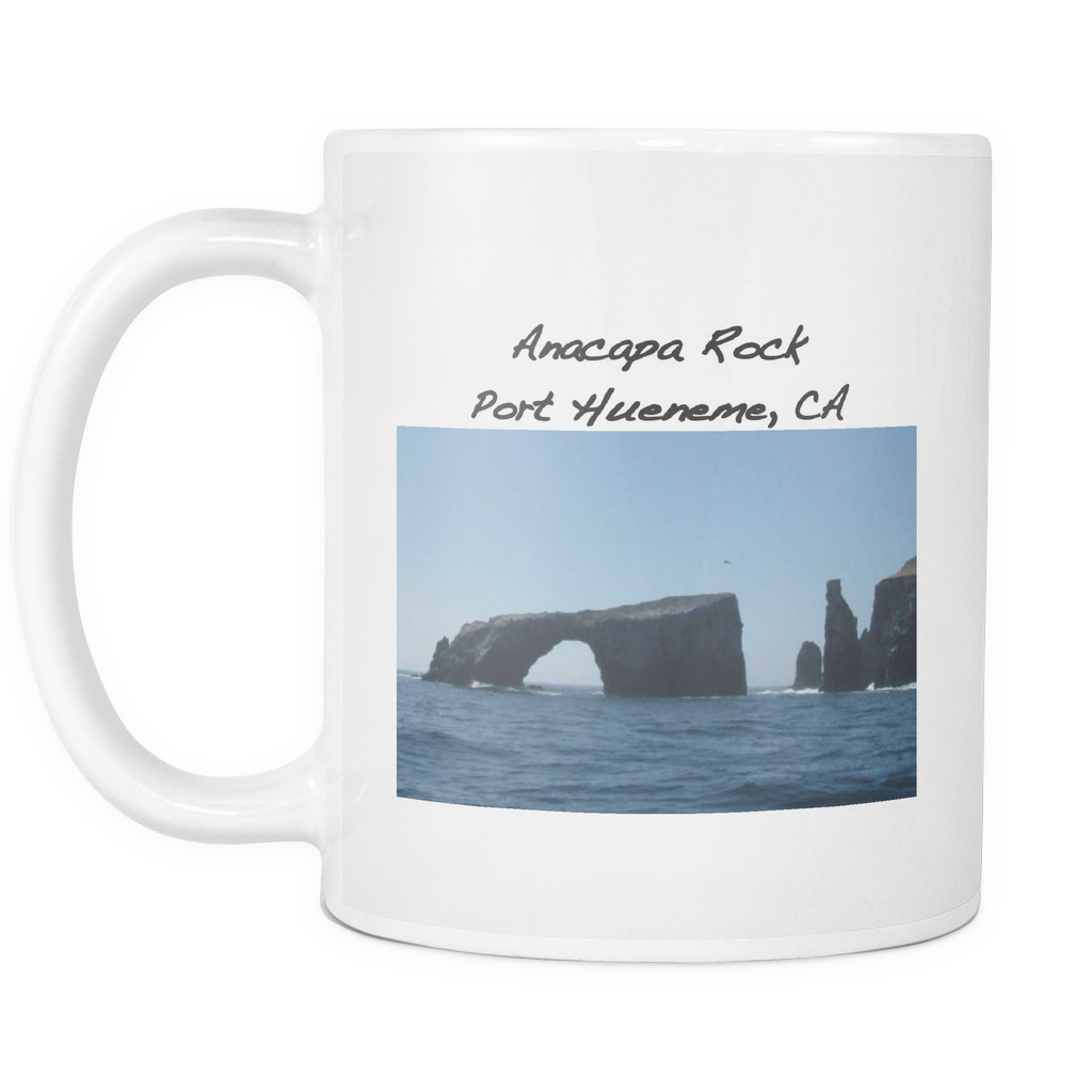 Printed Ceramic Coffee Mug with Anacapa Rock - PoHuLocal