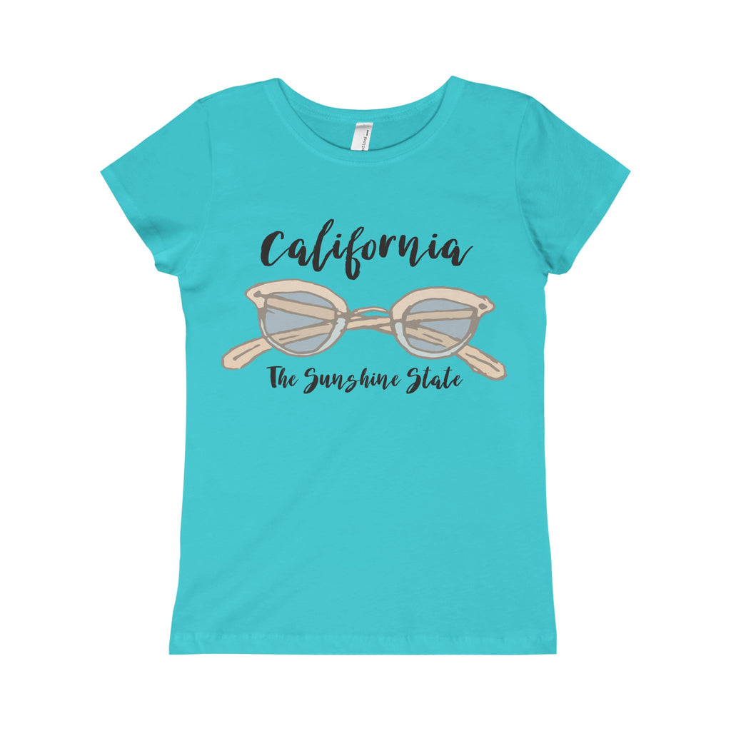 California The Sunshine State Princess Design Tee-PoHuLocal