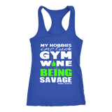 Gym & Wine Savage Racerback Tank