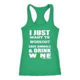 Save Animals & Drink Wine Racerback Tank