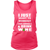 Save Animals & Drink Wine Women's Tank Top