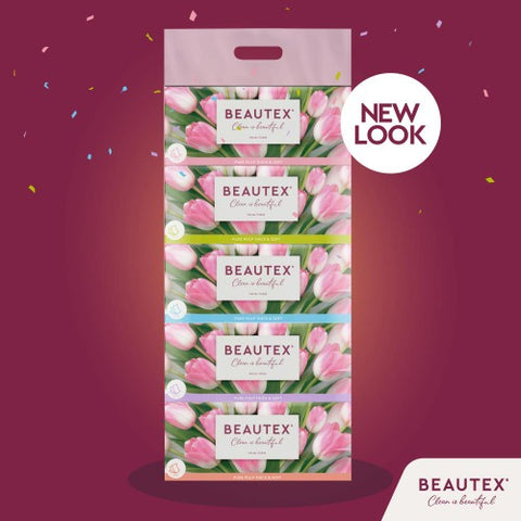 BEAUTEX BOX FACIAL TISSUE 3PLY x 5 x 100'S