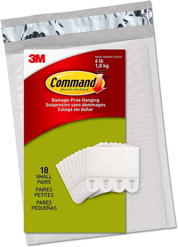Command Picture Hanging Strips, Small, White, 18-Pairs (PH202-18NA) - Easy to Open Packaging