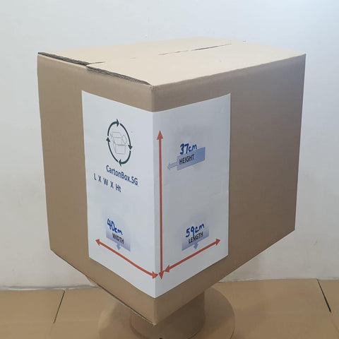 New Large Carton Box  : 59cm(L) x 40cm(W) x 37cm(H)