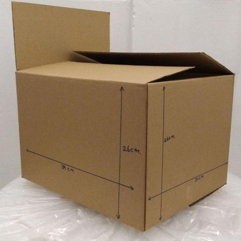 New Document Carton Box : 39cm(L) x 39cm(W) x 26cm(H)-Bundle of 20pcs *