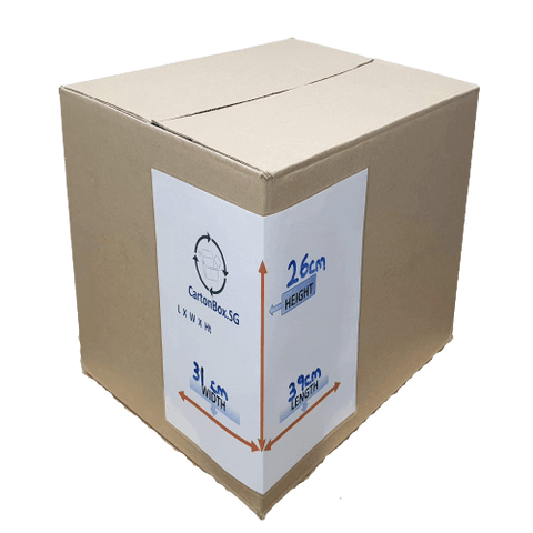 New Document Carton Box : 39cm(L) x 31cm(W) x 26cm(H)
