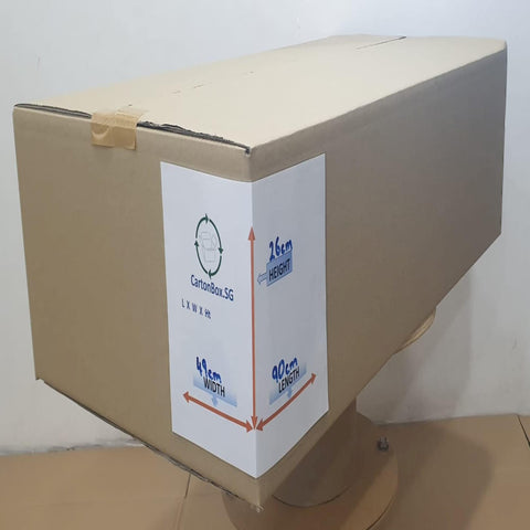 New Flat Carton Box : 90cm(L) x 49cm(W) x 26cm(H)