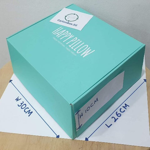 Smaller New Printed Carton Box : 26cm(L) x 30cm(W) x 10cm(H)