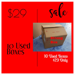 *10 Heavy Duty Used Box [58X50X45cmH]=$29 - CartonBox.Sg