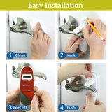 Improved Childproof Door Lever Lock 3-Pack Prevents Toddlers from Opening Doors