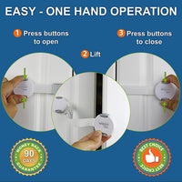 Reusable Child Safety Lock Set (6 Pack + 12 Pads) | Babyproofing Latches
