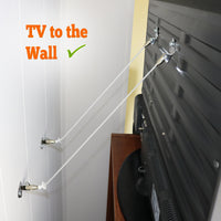 Metal Anti-Tip TV and Furniture Safety Straps Pack of 2- Childproof Wall Straps