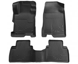 Husky Liners 96101 WeatherBeater Series Black Front and 2nd Seat Floor Liner