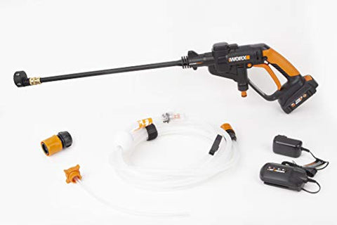 Slight Use, Priced Accordingly. WORX WG625 20V Hydroshot Cordless Portable Power Cleaner, Black and Orange