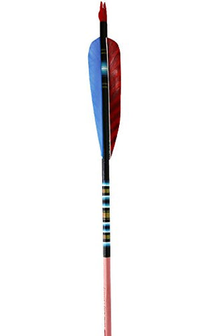"Rose City Archery Port Orford Cedar Fancy Arrows, Black Crown Dip with Mahogany Stain Shaft, 4"" Parabolic Fletch 11/32"" Diameter, 45-50 # Spine WT (Half Dozen)"