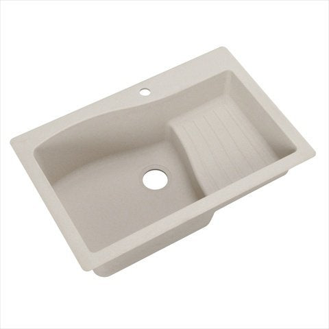 Swanstone QZAD-3322.076 33-Inch by 22-Inch Drop-In Ascend Bowl Kitchen Sink, Granito