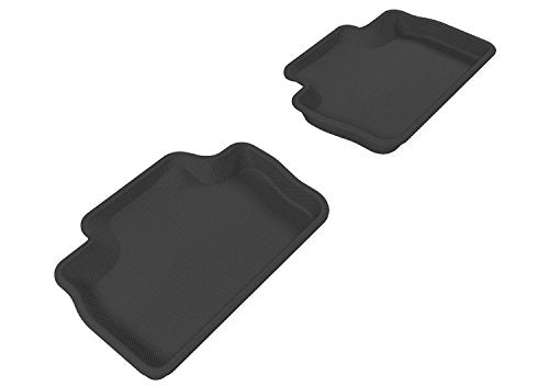 3D MAXpider Second Row Custom Fit All-Weather Floor Mat for Select Lexus Models - Kagu Rubber (Black)