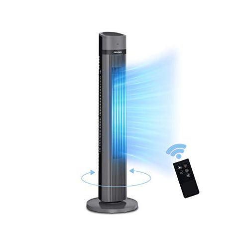 PELONIS PFT40A4AGB Electric Oscillating Stand Up Tower Fan, 40-inch, Black 2020 New Model, 3 Speed, up to 15h Timer,LED Display, Remote Control included