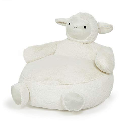 Heritage Kids Figural Sheep Plush Chair for Kids, Ivory, Ages 2+