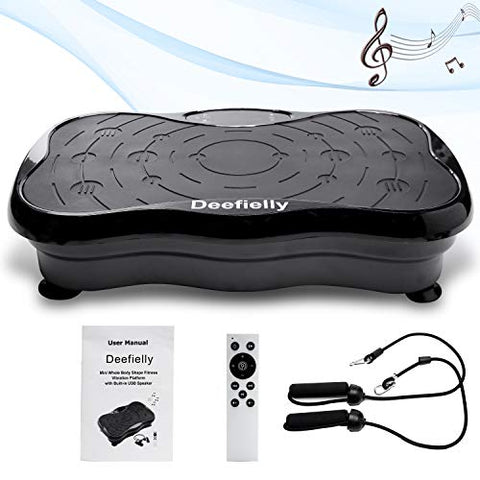 Missing Remote and User Manual. Priced Accordingly. Deefielly Mini Vibration Plate Exercise Machine Whole Body Workout Fitness Vibration Platform Machine Home Training Equipment for Adult Weight Loss with Bluetooth Speaker