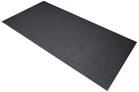 BalanceFrom GoFit High Density Treadmill Exercise Bike Equipment Mat, 3 x 6.5-ft, Regular