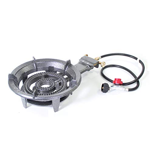 (Box Damage, No product damage) Portable Large High Pressure Propane Burner Gas Stove Cooking Camping Outdoor
