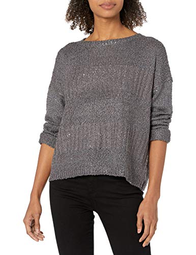 Jack by BB Dakota Women's Boatneck Sweater, Charcoal, Extra Small