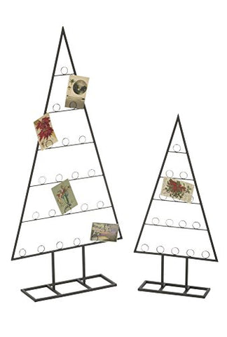 Red Co. Minimalist Tabletop Tree Ornament, Decorative Card & Photo Holder, Set of 2 Sizes