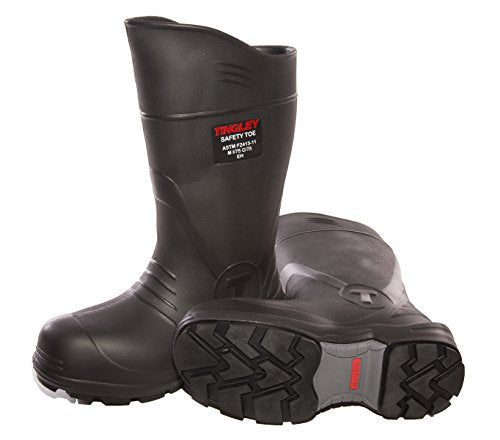 Slight damage to original packaging. TINGLEY 27251.11 27251 SZ11 Footwear: Boots-Rubber Safety Toe, 11, Black