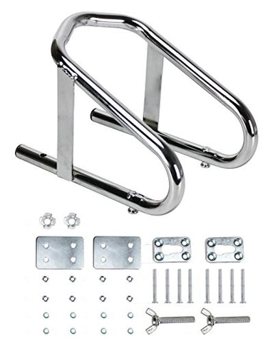 "Extreme Max 5001.5763 Deluxe Chrome Motorcycle Wheel Chock-5.5"" Wide"
