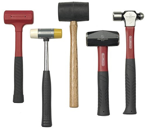 Missing 3lb drilling Mallet, Priced Accordingly. GEARWRENCH 5 Pc. Hammer and Mallet Set - 82303D