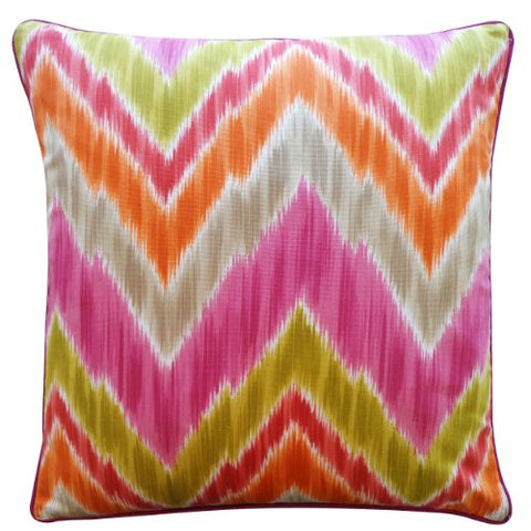 Jiti Mountain Cotton Square Throw Pillow, 20-Inch, Pink