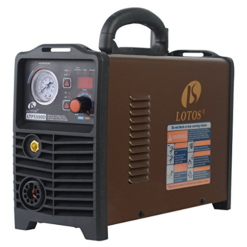 Slight Box Damage. Lotos LTP5500D Non-Touch Pilot Arc Plasma Cutter, Dual Voltage 110V/220V, Brown (55AMP Digital)