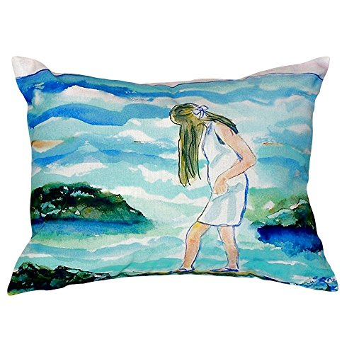 "Betsy Drake NC122 Mia on The Rocks No Cord Pillow, 16"" x20"""