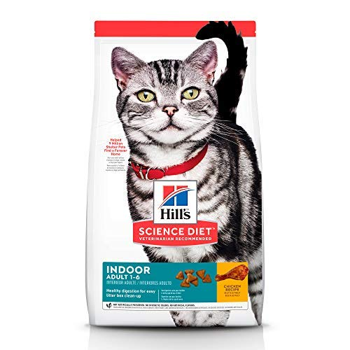 Hill's Science Diet Adult Indoor Cat Food, Chicken Recipe Dry Cat Food, 15.5 Lb Bag
