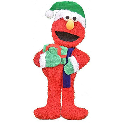 Product Works 32-Inch Pre-Lit Sesame Street Elmo Merry Christmas Yard Decoration, 50 Lights