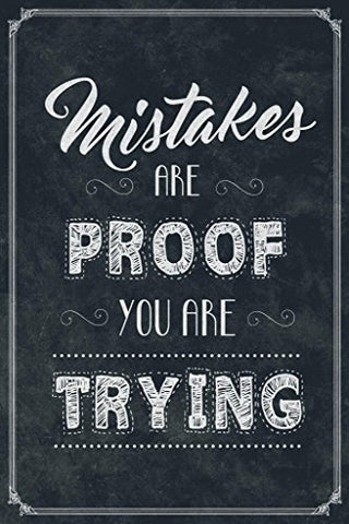 Mistakes are Proof You are Trying Classroom Cool Huge Large Giant Poster Art 36x54