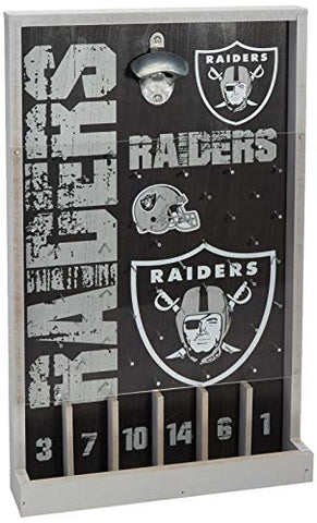 Oakland Raiders NFL Bottle Opener Sign Game