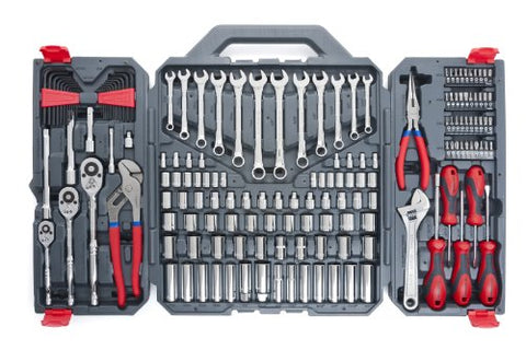 (Latches to close are missing) Crescent 170 Pc. General Purpose Tool Set - Closed Case - CTK170CMP2