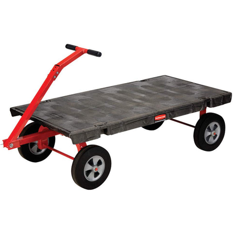 Rubbermaid Commercial FG448000BLA Fifth-Wheel Wagon Truck, 2000-Pound Capacity