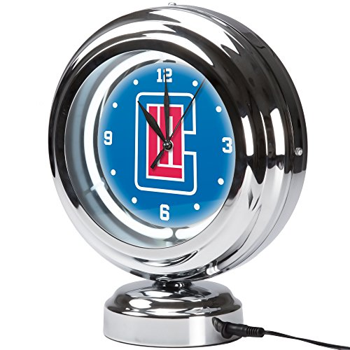 Trademark Gameroom Los Angeles Clippers NBA Chrome Retro Style Tabletop Neon Clo