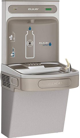 Elkay LZS8WSLK EZH2O Bottle Filling Station with Single ADA Cooler, Filtered, 8 GPH, Light Gray (Missing EZH2O)