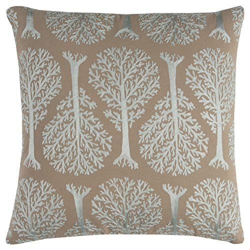 Rizzy Home PILT11460RKBX2020 Embroidered Shapes Decorative Pillow, Darkest Blush