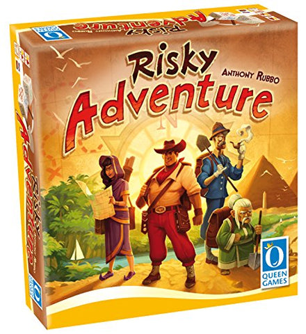 Queen Games Risky Adventure Family Dice Board Game