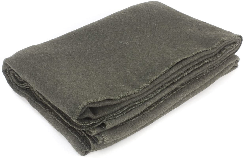 "EverOne Wool Fire Retardant Blanket, Grey, 62"" X 80"""